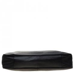 Hugo Boss Black Leather Double Lock Briefcase