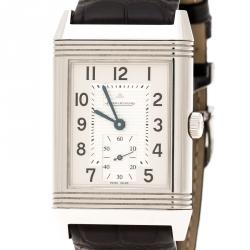 Jaeger LeCoultre Silver Stainless Steel Grande Reverso 273.8.04 Men's Wristwatch 30 mm