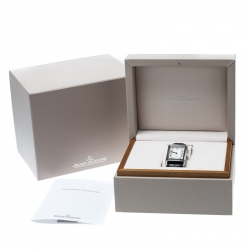 Jaeger LeCoultre Silver Stainless Steel Grande Reverso 273.8.04 Men's Wristwatch 30 mm