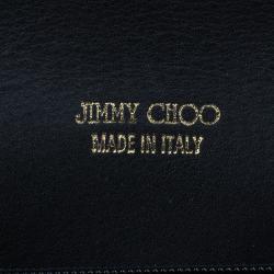 Jimmy Choo Black Snakeskin Reese Clutch