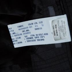John Varvatos Super 130s Grey Checked Wool Tailored Blazer 3XL