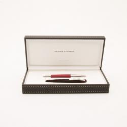 Jorg Hysek Red and Silver Roller ball Pen