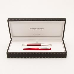 Jorg Hysek Red Lacquer and Silver Tone Ballpoint Ball