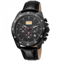 Just Cavalli Black Ion Plated Stainless Steel Sport JC1G013L0035 Men's Wristwatch 44MM