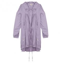 Kenzo Lilac Parka Style Trench Coat L