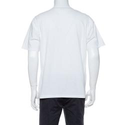 Kenzo White Cotton Jersey Tiger Print Crew Neck T-Shirt S