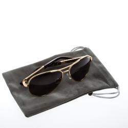 Korloff Gold/Black KOR2016 Aviator Sunglasses