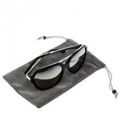 Korloff Black Silver Mirror KOR2034 Aviator Sunglasses