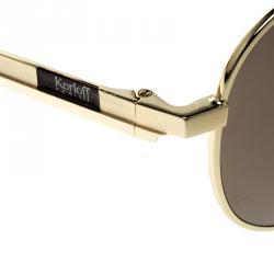 Korloff Gold/Gold KOR2022 Aviator Sunglasses