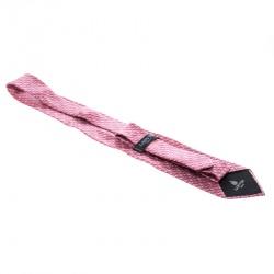Lanvin Pink Spiral Printed Silk Tie