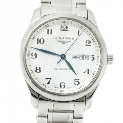 Longines Silver Stainless Steel The Master Collection L2.755.4.78.6 Men's Wristwatch 38.50 mm