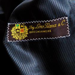 Loro Piana Facis Black Cashmere Over Coat S