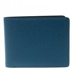 Louis Vuitton Blue Taiga Leather Bifold Wallet