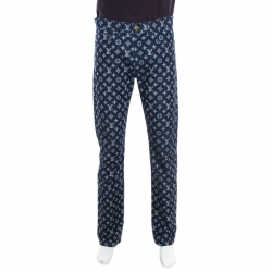 3df6b898502 Louis Vuitton X Kim Jones Indigo Monogram Denim Regular Fit Jeans M