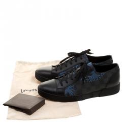 Louis Vuitton Damier Graphite Canvas and Leather Match Up Sneakers Size 42