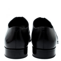 Louis Vuitton Black Epi Leather Lace Up Oxfords Size 44