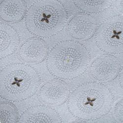 Louis Vuitton Grey Flower Dot Pattern Silk Jacquard Tie