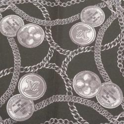 Louis Vuitton Black Silk Handkerchief