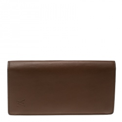 Louis Vuitton Brown Leather Brazza Wallet ad4fdc99220d7