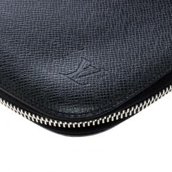 Louis Vuitton Black Taiga Leather Geode Organizer Clutch