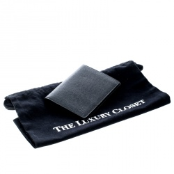 Louis Vuitton Black Taiga Leather Passport Holder