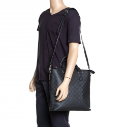 548abf5bc542 Louis Vuitton Black Damier Infini Leather Daily Bag