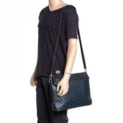 e1941b0d5249 Louis Vuitton Damier Cobalt Canvas and Leather Greenwich Messenger Bag
