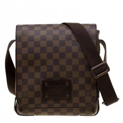 ff0bd12d5161 Louis Vuitton Brown Damier Ebene Canvas PM Brooklyn Messenger Bag