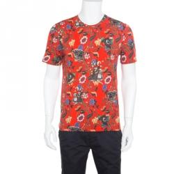 10f2d39e Louis Vuitton Red Demonic Owl Printed Cotton T-Shirt M