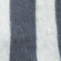 Louis Vuitton Grey USA Flag Mohair Jacquard Crew Neck Sweater M