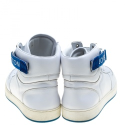 Louis Vuitton White Leather High Top Sneakers Size 44