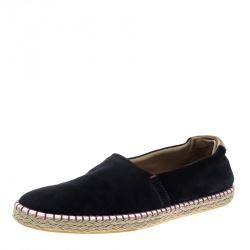 2c0014b2e7db Louis Vuitton Black Suede Slip On Espadrilles Size 45