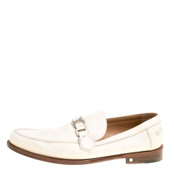 70da88625a00a5 Louis Vuitton Off White Leather Major Loafers Size 45