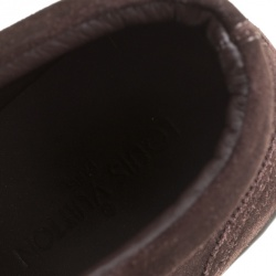 Louis Vuitton Brown Suede Sneaker Boots Size 43.5