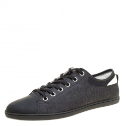 17dbe54d8c78 Louis Vuitton Damier Graphite Nylon and Leather Baseball Low Cut Sneakers  Size 42.5