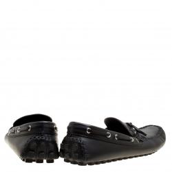 Louis Vuitton Black Leather Arizona Loafers Size 43