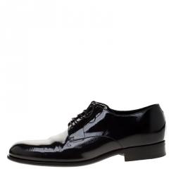 Louis Vuitton Black Electric Epi Leather Derby Shoes Size 42