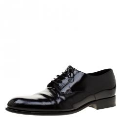 26bbcbcaf14b Louis Vuitton Black Electric Epi Leather Derby Shoes Size 42