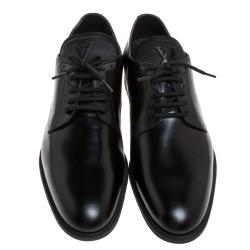 Louis Vuitton Black Leather Lace Up Derby Size 42