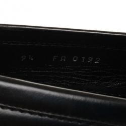 Louis Vuitton Black Damier Embossed Santiago Loafers Size 42.5