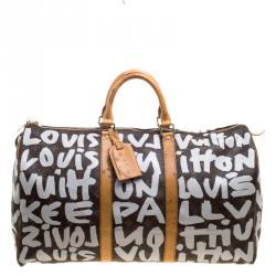 d474030e1f5 Louis Vuitton Monogram Canvas Limited Edition Graffiti Keepall 50