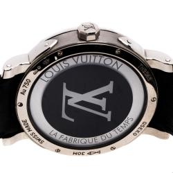 Louis Vuitton Black 18K White Gold Escale Worldtime Men's Watch 41MM