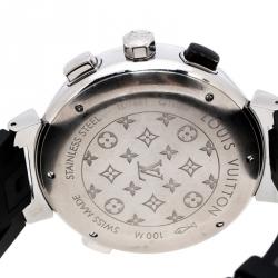 Louis Vuitton Blue Stainless Steel Tambour Regatta Q102D Men's Wristwatch 44MM