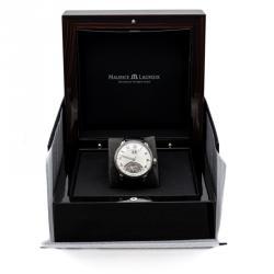 Maurice Lacroix Silver Jours Retrograde Steel Automatic Men's Watch 40MM