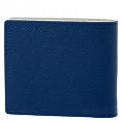 MCM Blue Leather Bifold Wallet