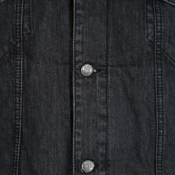 McQ By Alexander McQueen Faded Black Denim Jacket S