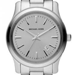 Michael Kors Silver Stainless Steel Runway MK6332 Men's Wristwatch 38MM