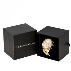 ساعة يد رجالية مايكل كورس MK8281 كونوغراف ليكسينغتون فولاذ مطلي ذهب 45 مم