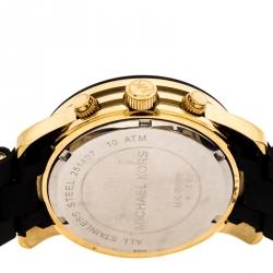 ساعة يد رجالية مايكل كورس راناواي MK5191  ستيل مطلية ذهب سوداء 39مم