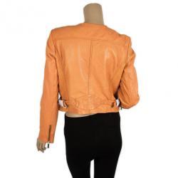 MICHAEL Michael Kors Orange Leather Jacket M